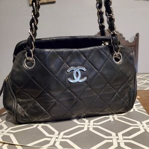 Authentic black quilted Chanel bag
